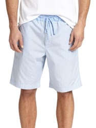 Hanro Woven Cotton Shorts Light Blue