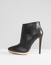 Forever Unique Island Ankle Detail Heeled Boot Black