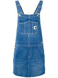 Carhartt Short Dungaree Dress Women Cotton Polyester L Blue
