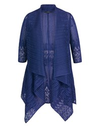 Chesca Border Lace Crush Pleat Shrug Royal Blue