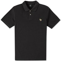 Paul Smith Regular Fit Zebra Polo Black