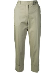 Antonelli Cropped Trousers Green