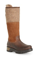 Bos. And Co. Women's 'Ginger' Waterproof Mid Calf Platform Boot Expresso Beige