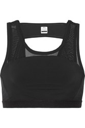 Athletic Propulsion Labs Paneled Mesh And Stretch Sports Bra Black
