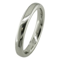 Ewa 18Ct White Gold 3Mm Court Wedding Ring White Gold