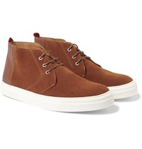 Oliver Spencer Suede High Top Sneakers Tan