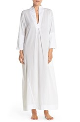 Women's Skin Voile Jersey Caftan Nightgown White