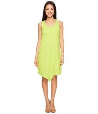 Mod O Doc Textured Slub Stripe Tank Dress Lime Women's Dress Green