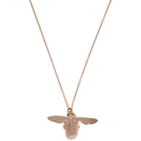 Alex Monroe 22Ct Rose Gold Vermeil Bee Pendant Necklace