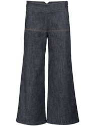 Derek Lam Bootcut Cropped Trousers Blue