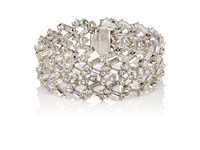 Stazia Loren Women's White Diamante Wide Band Bracelet No Color