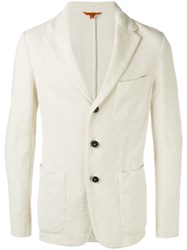 Barena Three Button Blazer White