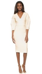 Lela Rose Full Sleeve Dress Ivory