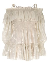 Alice Mccall Champers Off The Shoulder Playsuit Gold