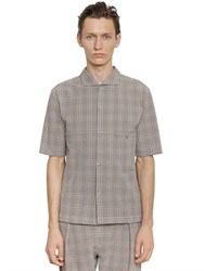 Christophe Lemaire Cotton Seersucker Short Sleeve Shirt