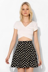 Lucca Couture Button Down Mini Skirt Black And White