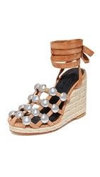 Alexander Wang Taylor Espadrille Wedges Clay