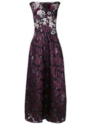 Talbot Runhof Noralee Dress Silk Polyester Acetate Cupro Pink Purple