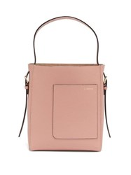 Valextra Small Grained Leather Tote Bag Light Pink