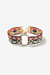 Topshop Bright Aztec Circle Choker Necklace Multi