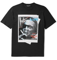 Neil Barrett Jay De Niro Slim Fit Printed Cotton Jersey T Shirt Black
