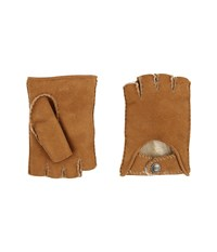 Ugg Mckay Fingerless Driver Gloves Chestnut Extreme Cold Weather Gloves Brown