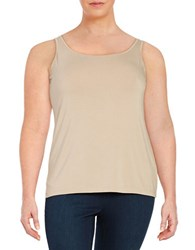 Lord And Taylor Plus Iconic Slimming Tank Classic Tan