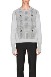 Alexander Mcqueen Houndstooth Sweatshirt In Checkered And Plaid Gray