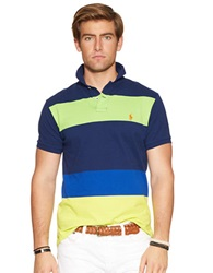 Polo Ralph Lauren Classic Fit Color Blocked Mesh Polo Shirt Holiday Navy