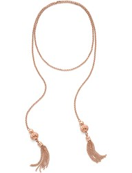 Folli Follie Style Fairy Double Tassel Rose Gold Plated Necklace