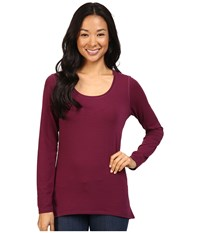 Hot Chillys Mtf Solid Tunic Viola Women's Clothing Purple