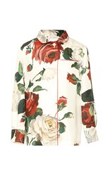 Dolce And Gabbana Long Sleeve Floral Pajama Blouse 2 6 Years