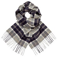 Johnstons Cashmere Gingham Scarf Blue Red