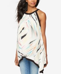 A Pea In The Pod Maternity Printed Sleeveless Blouse Stripe Print