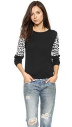 Top Secret Ashton Sweater Black Snow Leopard