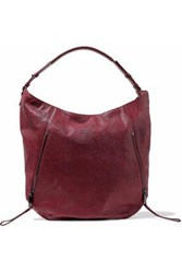 Halston Elsa Snake Effect Leather Tote Claret