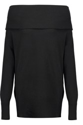 Madeleine Thompson Draped Cashmere And Wool Blend Sweater Black