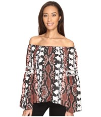 Tart Clay Top Inkblot Python Women's Clothing Brown