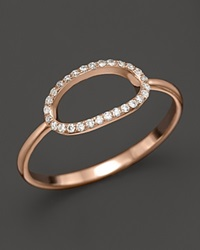 Kc Designs Pave Diamond Oval Ring In 14K Rose Gold .09 Ct. T.W. Rose Gold White Diamonds