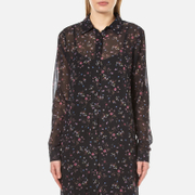 Gestuz Women's Stacie Long Shirt Dress Mini Flower Multi