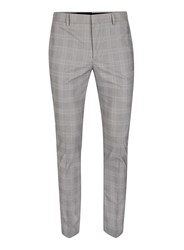 Topman Black And White Check Ultra Skinny Fit Suit Pants