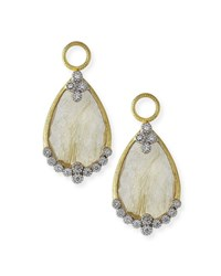 Jude Frances Provence Rutilated Quartz And Diamond Earring Charms Gold