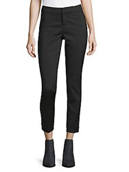 Saks Fifth Avenue Black Cuffed Trousers Black