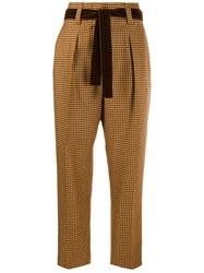 Pt01 High Rise Cropped Trousers Yellow