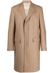 Maison Martin Margiela Single Breasted Coat Neutrals