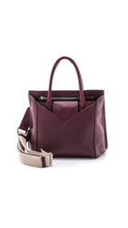 Maison Martin Margiela Leather Handbag Dark Red