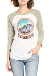 Billabong Women's Yosemite Graphic Baseball Tee