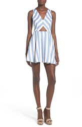 Women's Lovers Friends 'Honor' Stripe Fit And Flare Dress