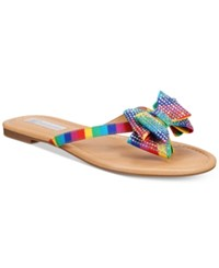 Inc International Concepts Women's Mabae Bow Flat Sandals Only At Macy's Women's Shoes Bright Multi