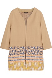 Finds Oui Odile Embroidered Cotton Blend Canvas Coat